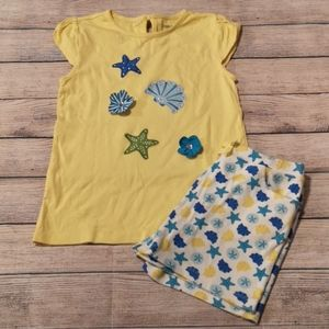 Gymboree Sea Splash 2 Piece Outfit